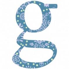 Lettre adhésive G My ABC blue by Anne Cresci