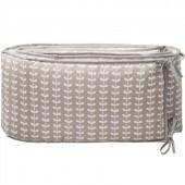 Tour de lit Feuille grise (pour lits 60 x 120 cm et 70 x 140 cm) - Fresk