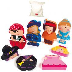 Puzzles personnages magnétiques (12 pièces)