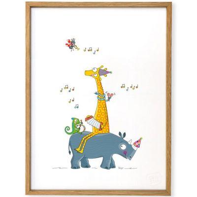 Affiche encadrée Guinguette (30 x 40 cm)  par Série-Golo