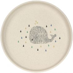 Assiette plate baleine Little Water