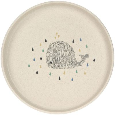 Assiette plate baleine Little Water  par Lässig