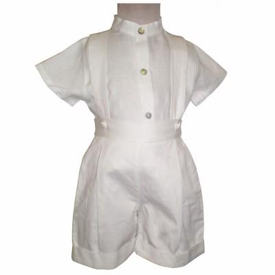 tenue de baptme bermuda et chemisette blanche 2 ans. Black Bedroom Furniture Sets. Home Design Ideas