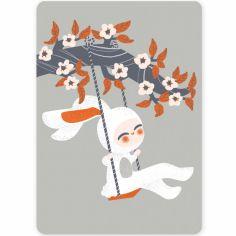 Petite carte Les Adorables Costumés le Lapin (10,5 x 14,8 cm)