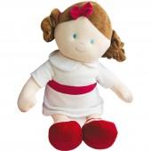 Poupée Mademoiselle Blanche Les demoiselles de doudou grand modèle (80 cm) - Doudou et Compagnie