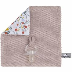 Doudou attache sucette Bloom vieux rose