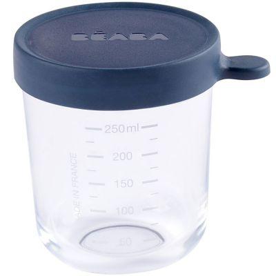 Pot de conservation Portion en verre bleu (250 ml) Béaba