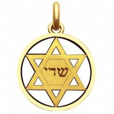 Médaille étoile de David  (or jaune 750°)