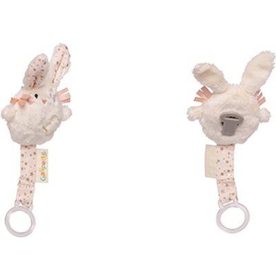 Attache sucette lapin Lilou et Perlin  par Galipette