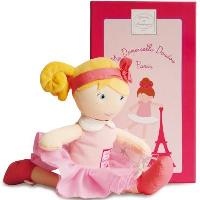 Poupée en tissu Les demoiselles Paris Louise (28 cm) Doudou et Compagnie