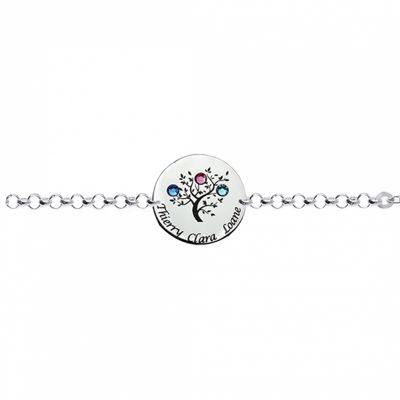 Bracelet arbre de vie avec Swarovski (argent 925°)  par Louis de l'Ange