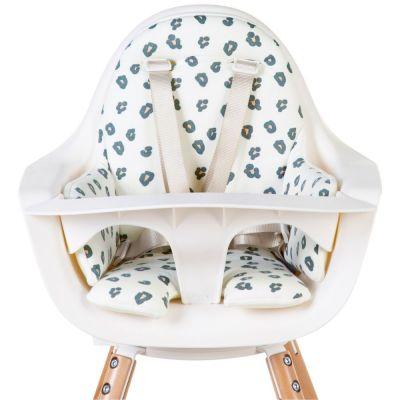 Coussin de chaise haute Evolu Jersey léopard  par Childhome