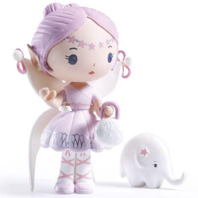 Figurine fée avec éléphant Elfe et Bolero Tinyly  par Djeco