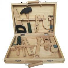 Mallette à outils en bois
