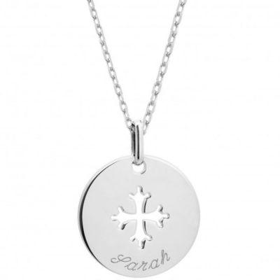 Collier Croix Occitane (argent 925°)  par Petits trésors