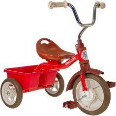 Tricycle Transporter avec panier arrière rouge