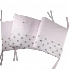 Tour de lit Bisous rose (pour lits 60 x 120 cm et 70 x 140 cm)
