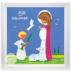 Tableau religieux Ste Colombe Saint Patron personnalisable (15 x 15 cm)