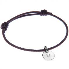 Bracelet Initiales avec médaille personnalisable (argent 925°)