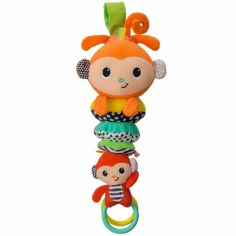 Peluche musicale à suspendre famille singe (28 cm)