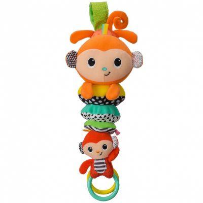 Peluche musicale à suspendre famille singe (28 cm) Infantino