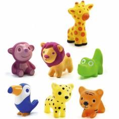 Lot de 7 animaux en plastique Troopo-savana