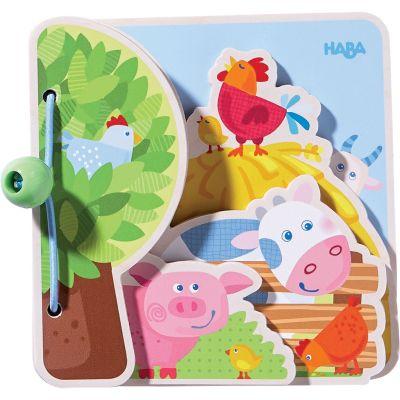 Livre pour bébé Les amis de la ferme Haba
