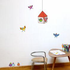 Stickers muraux La cabane aux oiseaux
