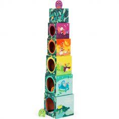Cubes empilables Dans la Jungle (6 cubes)