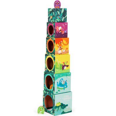Cubes empilables Dans la Jungle (6 cubes)  par Moulin Roty