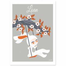 Affiche A4 Les adorables costumés Le lapin (personnalisable)  par Kanzilue