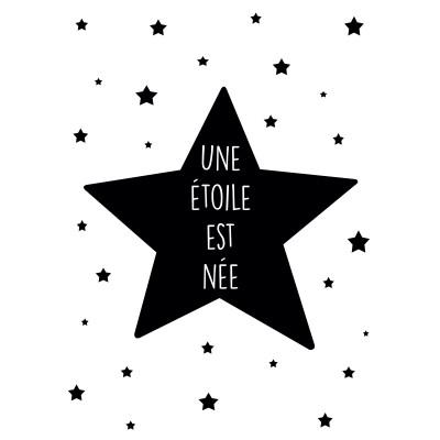 Affiche Une étoile est née noir et blanc (30 x 40 cm)  par BB & Co