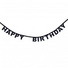 Guirlande Happy Birthday noire