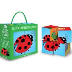 Livre et puzzle cube Les bébés animaux du jardin, M. Neil