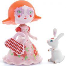 Figurine Elodia & son lapin White Arty Toys  par Djeco