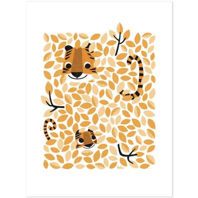 Affiche Hide & Seek tigre (30 x 40 cm)  par Lilipinso