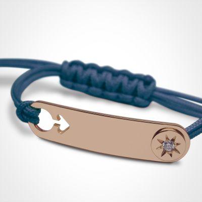 bracelet i am a star gar on or rose 750 par mikado. Black Bedroom Furniture Sets. Home Design Ideas