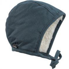 Bonnet vintage béguin Juniper Blue (12-24 mois)
