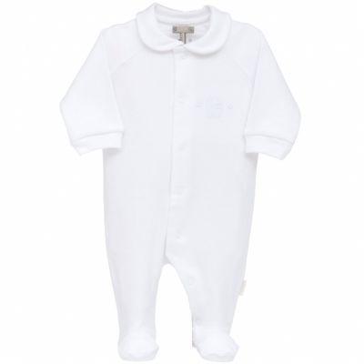Pyjama léger interlock blanc (6 mois : 68 cm)  par Cambrass