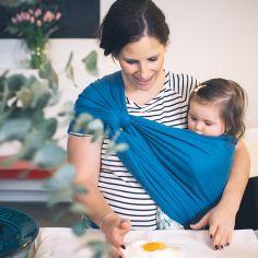 Echarpe de portage BB-Slen coton bio campanula blue (4,2 mètres)