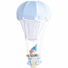 Lampe montgolfière Ciel et blanc