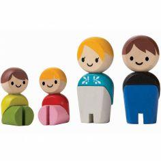 Personnages Famille européenne (4 pièces)