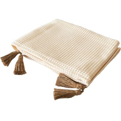Couverture en coton nougat  (150 x 120 cm)