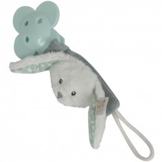 Attache sucette lapin Adventure mint