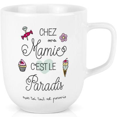 Mug en céramique XL Chez ma Mamie c'est le paradis (600 ml)
