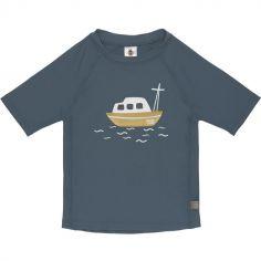 Tee-shirt anti-UV manches courtes Bateau bleu (24 mois)