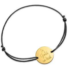 Bracelet cordon In Gold we trust (or jaune 750°)