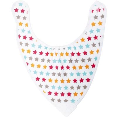 Bavoir bandana avec anneau de dentition étoiles  par Babycalin