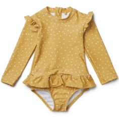 Maillot de bain manches longues Sille confetti yellow mellow (1-2 ans)