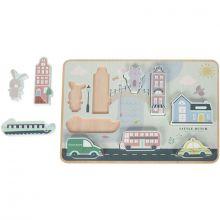 Puzzle à encastrer ville (9 pièces)  par Little Dutch